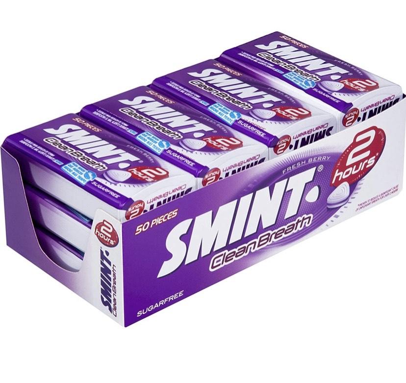 12 cajas de Smint 2H Frutos Rojos de 35 gr. (Total 420 gr.)