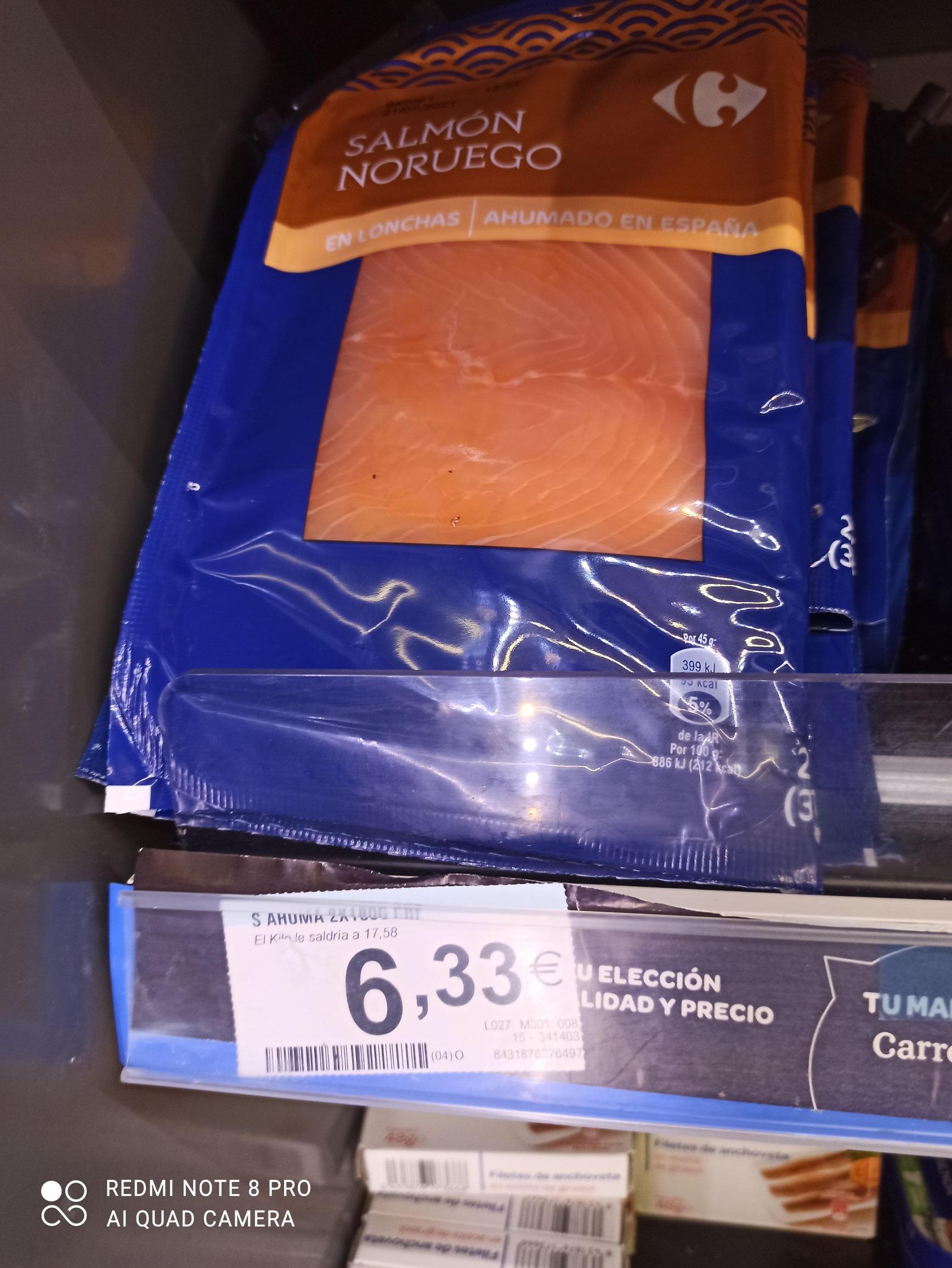 Salmón ahumado 2x180 gramos Carrefour Market Coslada