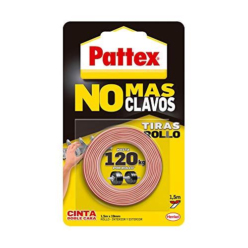 Pattex No Más Clavos Cinta, cinta adhesiva para aplicaciones permanentes 19 mm x 1,5 m