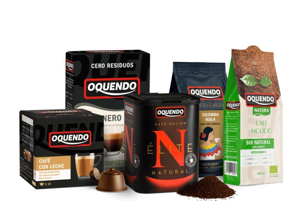 3x2 en cafés Oquendo en grano, molido o cápsulas (iguales o combinados)