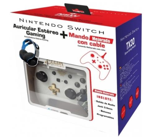 Auricular Estéreo Gaming TX-30 + Mando Mejorado Zelda