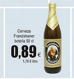 Cerveza Franziskaner Weissbier botella 50 cl