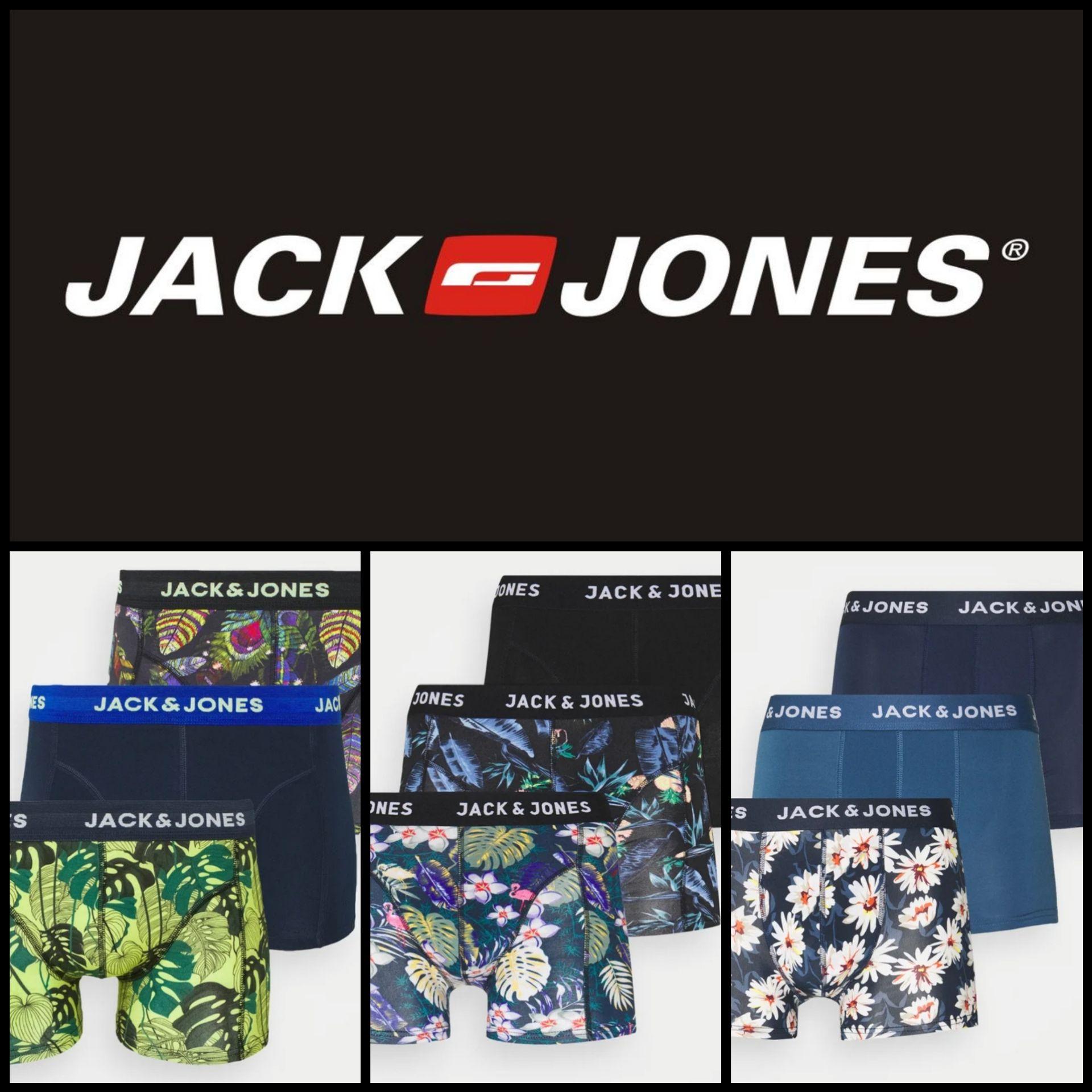 Pack 3 Bóxers Jack&Jones por 10,62€ (Varios Modelos en descripción)