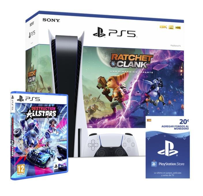 PlayStation 5 + Ratchet & Clank: Una Dimensión Aparte + 20€ Fondos Monedero