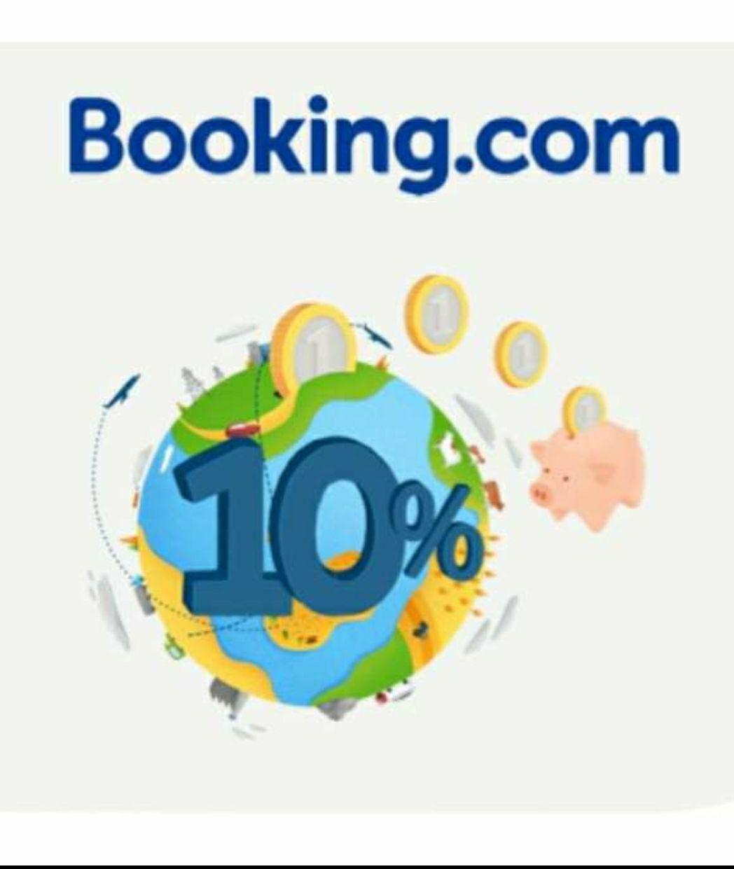 Acumula el 10% de crédito en Booking (Max. 200€) para tus próximas estancias. En la app