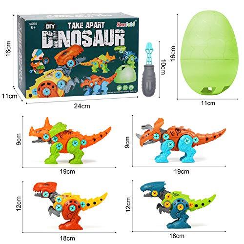 riceratops, Centrosaurus, Velociraptor, Tyrannosauru, huevo de dinosaurio grande, destornilladores.