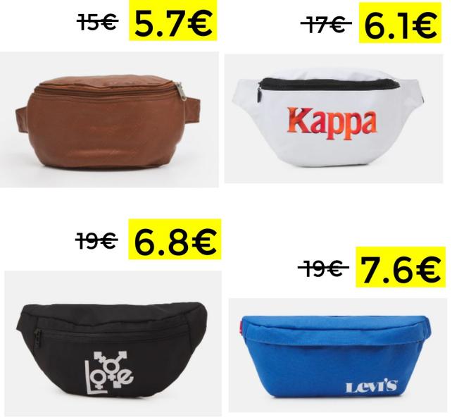 Riñoneras de marcas TOP a menos de 10€