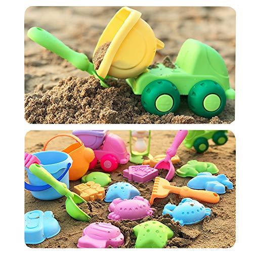 Conjunto de 13 Juguetes para la Playa con Bolsa de Malla