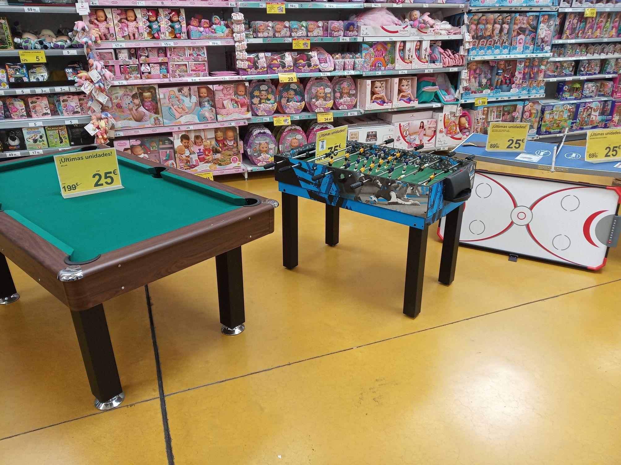 Billar, futbolín y mesa Ping pong en Carrefour la calzada