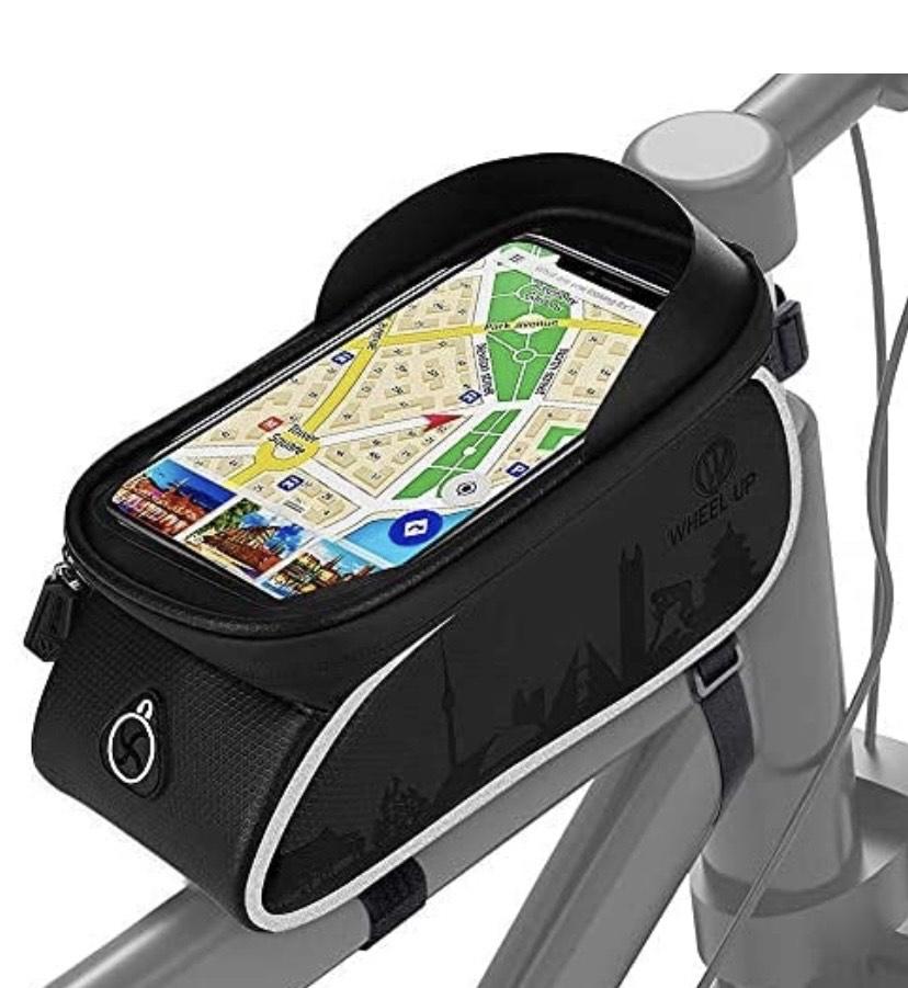 Bolsa Cuadro Bicicleta Impermeable con Pantalla Táctil y Viseras,