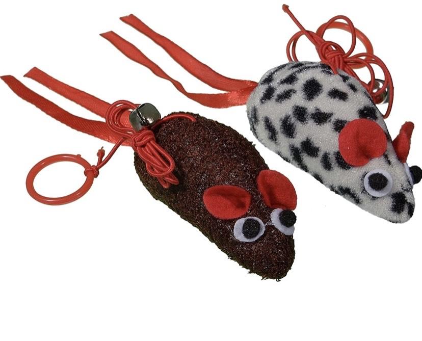 Bubimex - Juguete de ratón para Gato, 2 Piezas