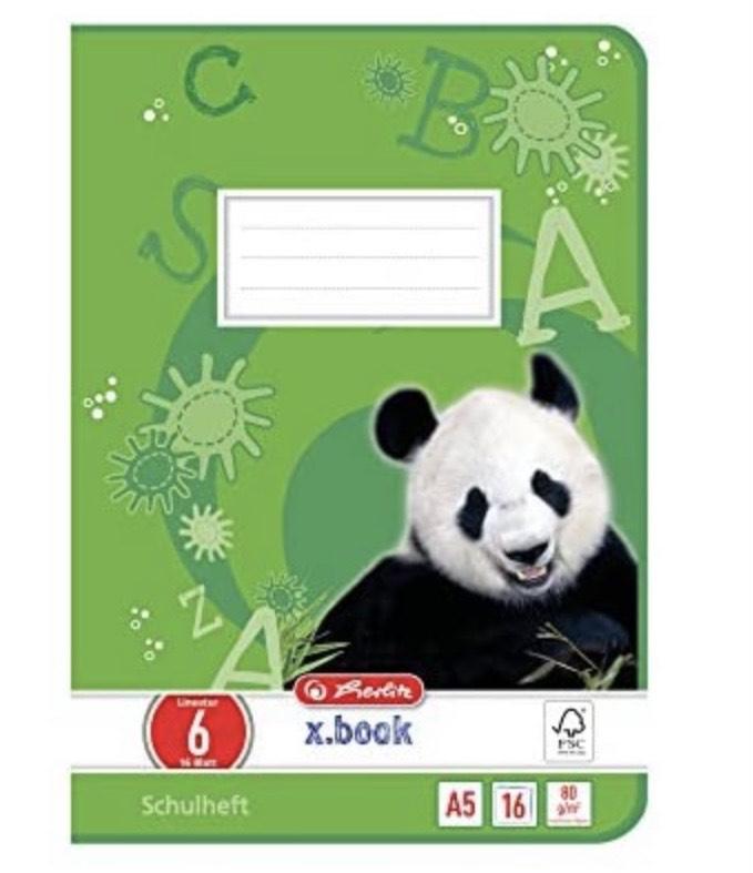 10 cuadernos A5, diseño 16, páginas en blanco, certificado FSC-Mixed