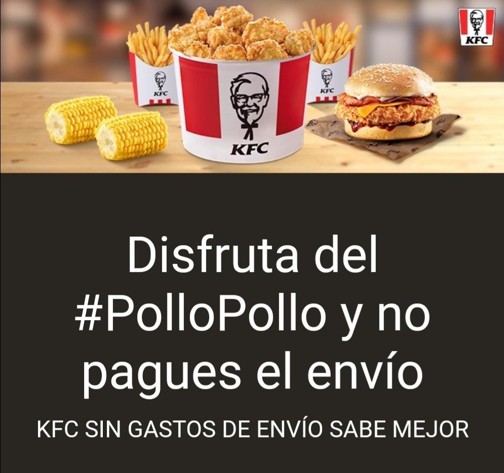 KFC con envio gratis pidiendo en Uber Eats ( Pedido minimo 12 euros )