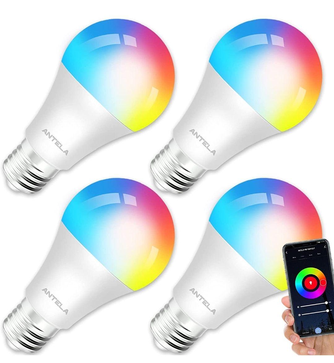 Pack de 4 bombillas compatibles con Alexa. La unidad sale a 5€