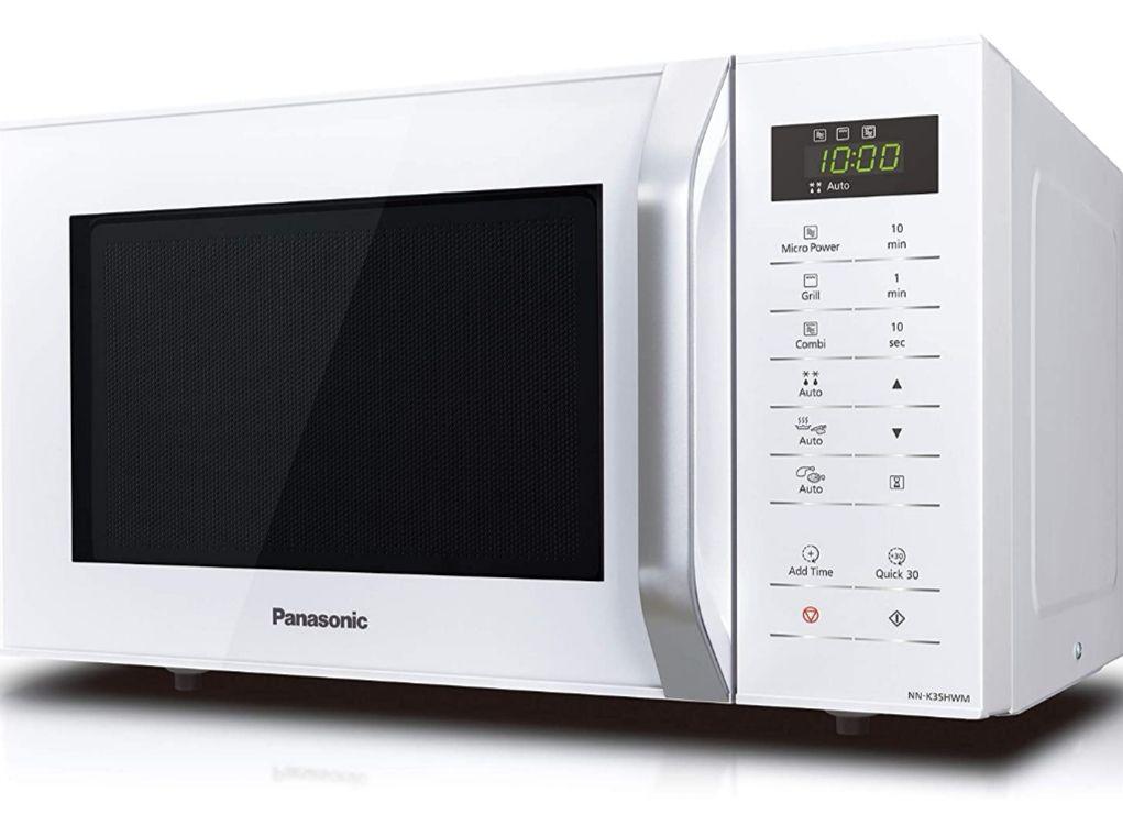 Horno Microondas - Panasonic NNK35HW, 23 L, 800 W, 11 Programas, Grill, Bloqueo niñ@s [Tb Mediamarkt]