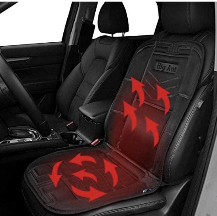 funda de asiento para coche de 12 V, calefactable en invierno
