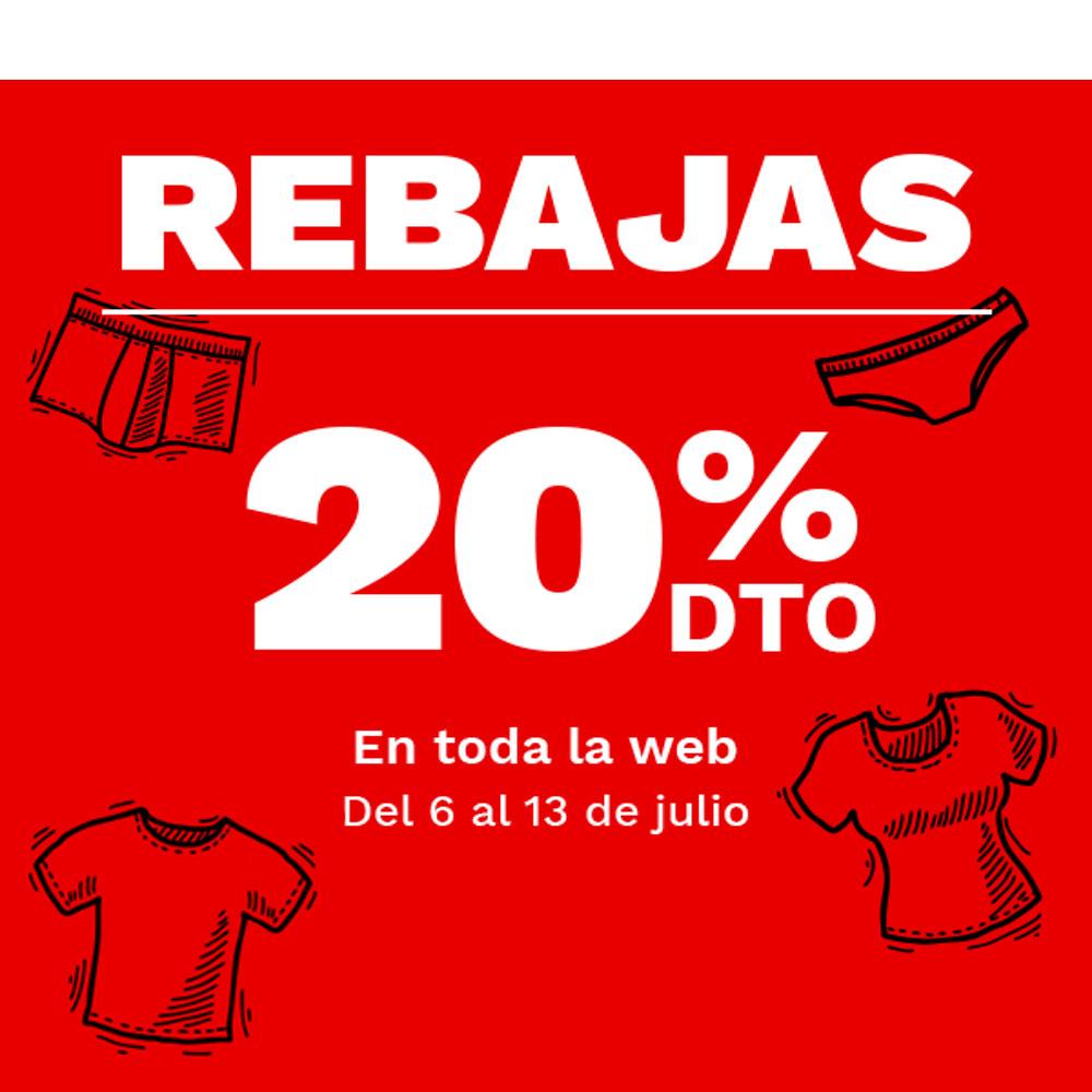 20% de descuento en toda la web