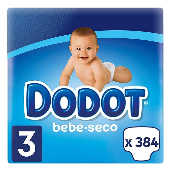 Pack de Bebé Seco T3 - 384 uds - 0,14 €/Ud. - 6-10 kg