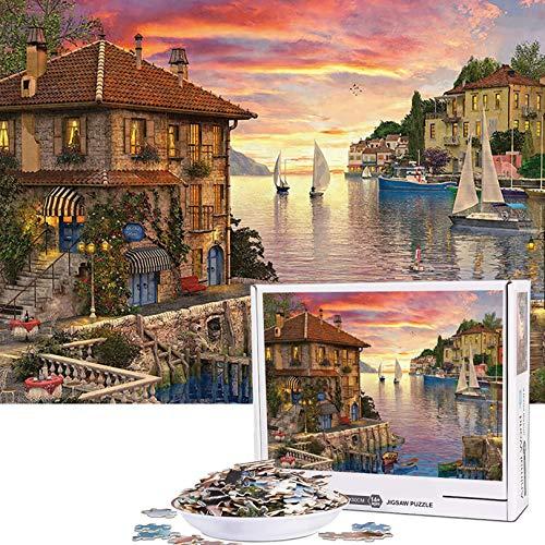 Puzzles de 1000 Piezas de Paisaje Puerto Mediterráneo. Por 5,99€