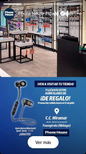 Auriculares bluetooth gratis por visitar The Phone House CC Miramar Fuengirola