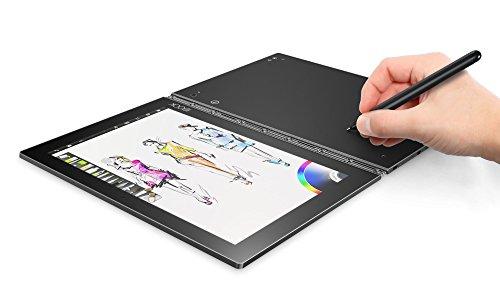 Lenovo Yoga Book - Tablet de 10.1'' (WiFi, RAM de 4 GB, memoria interna eMMC de 64 GB, Android 6.0), color gris metálico