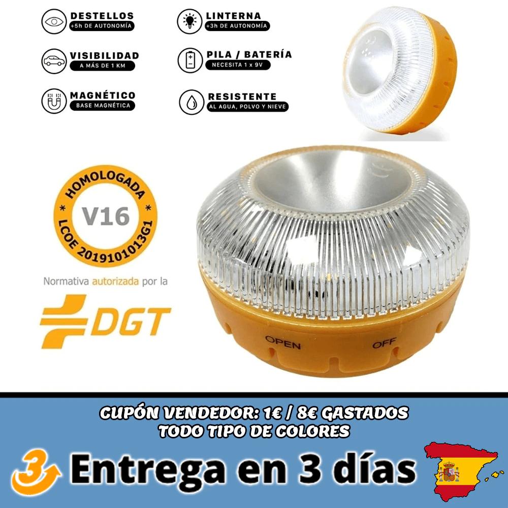 Luz emergencia DGT V16 con linterna
