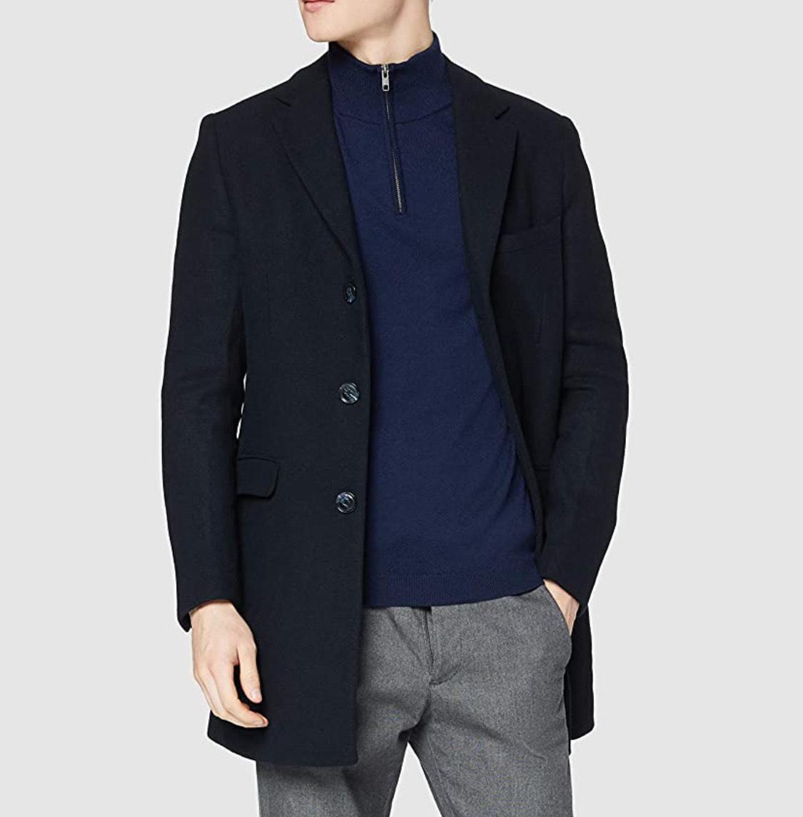 Abrigo fino azul find. talla XXL (L por 18,95€)
