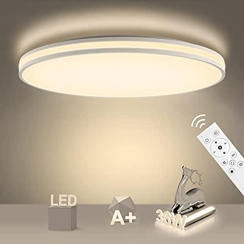Lámpara de Techo Regulable con Mando a Distáncia IP54 Impermeable 3000K-6500K. Por 29,99€