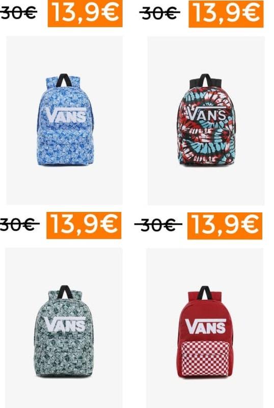 Mochilas Vans desde 13,95€