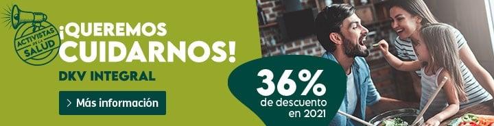 36% descuento en seguros de salud DKV Integral sólo este mes + Otras ofertas