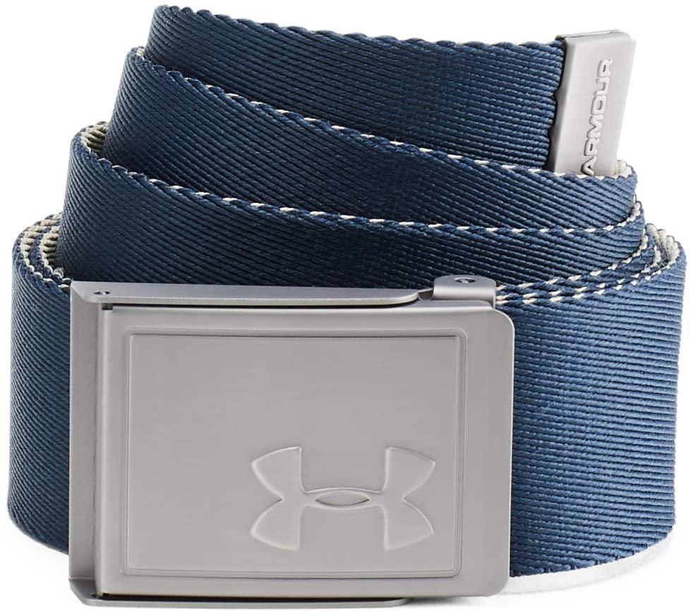En AZUL y BLANCO - Cinturón Under Armour Ua Men's Webbing 2.0 Belt (Tb en Azul en El Corte Inglés)