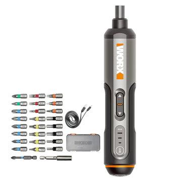 Mini destornillador eléctrico inalámbrico Worx WX240 4V USB con 26 piezas
