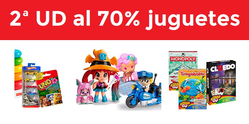 2ª Ud al 70% en selección de juguetes