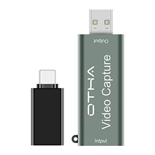 OTHA 1080P 60fps Tarjeta de Captura de Video (descuento Prime + cupón 12€)