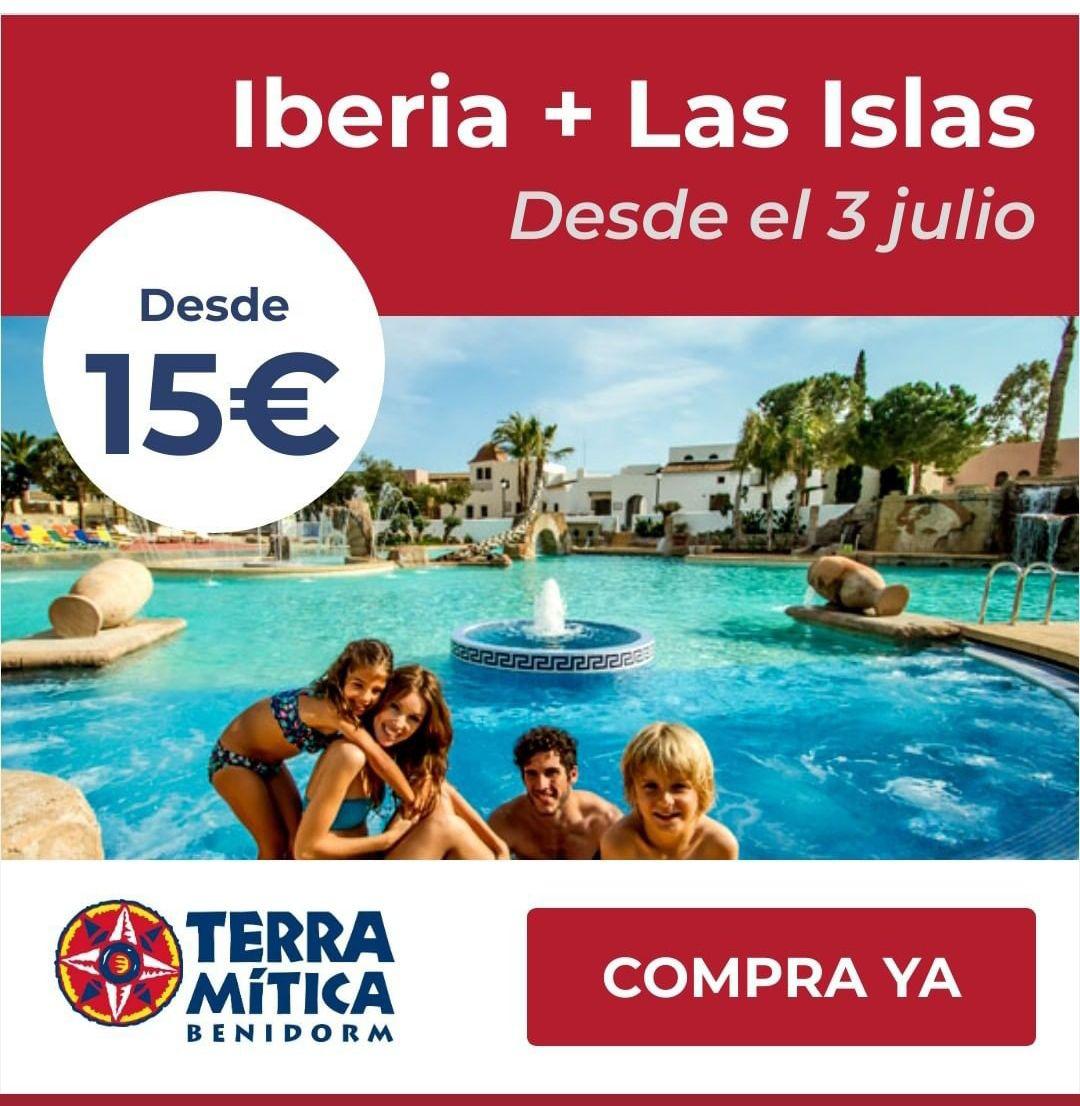 Oferta en Entradas al Parque de atracciónes Terra Mítica (Iberia + Las islas) por solo 15€/p y día