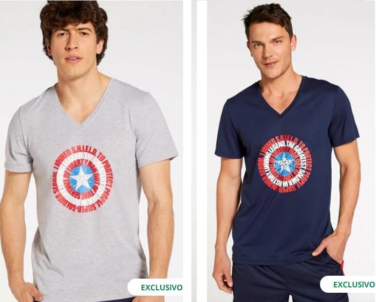 En 2 Colores - TALLAS S a XXL - Camiseta Marvel Vengadores