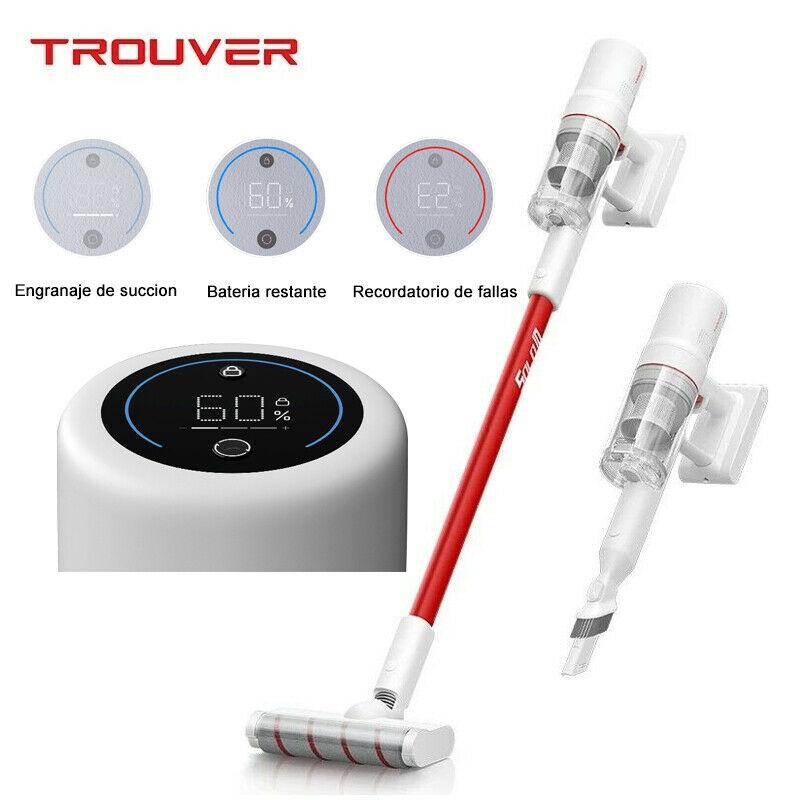 TROUVER Solo 10 Aspiradora inalámbrica LED Pantalla táctil Portátil HEPA - Desde España