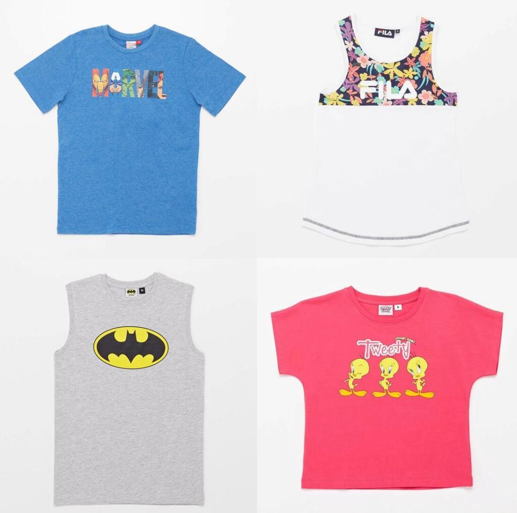 Chollitos en camisetas de licencia para niñ@s + 70% 2ª Unidad