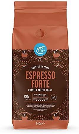 """Happy Belly Café de tueste natural en grano """"Espresso Forte"""" (1 x 500g)"""