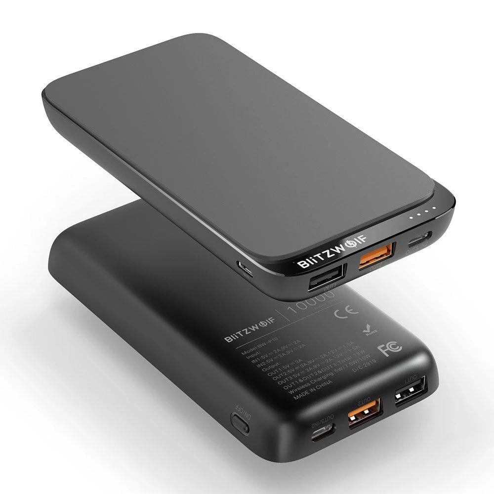 BlitzWolf® BW-P10 10000mAh QC3.0 PD18W Power Bank
