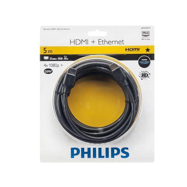 Cable HDMI + Ethernet Philips 5m por solo 1,99€