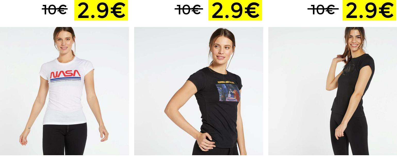 Preciazos en camisetas de licencias mujer
