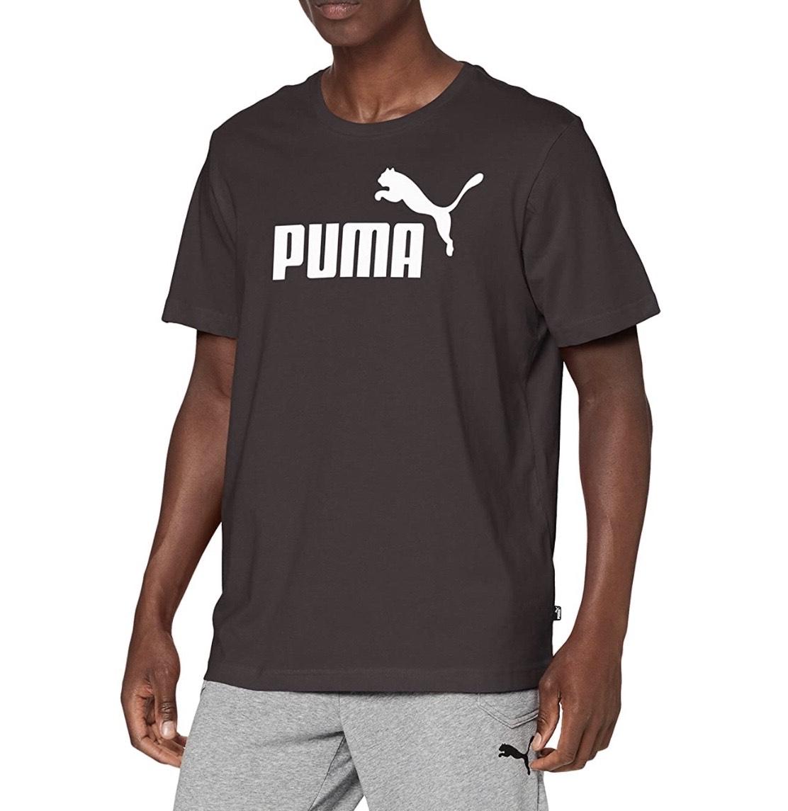 Camiseta negra Puma adulto tallas S y XL (S también en blanco)