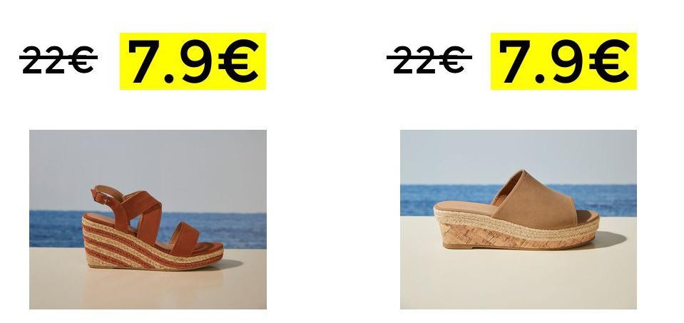 Sandalias cuña Women'Secret solo 7.99€