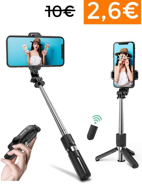 """Aro de luz 10"""" trípode solo 4€ // Palo selfie 2,6€"""