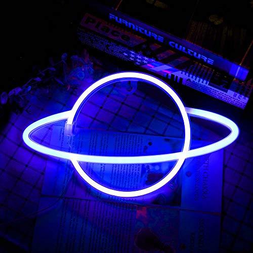 Lámpara de neón LED con forma de planeta