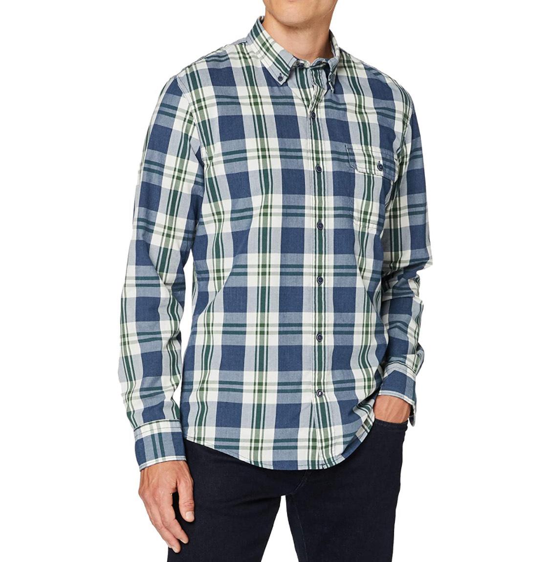 Camisa cuadros Izod hombre talla S.