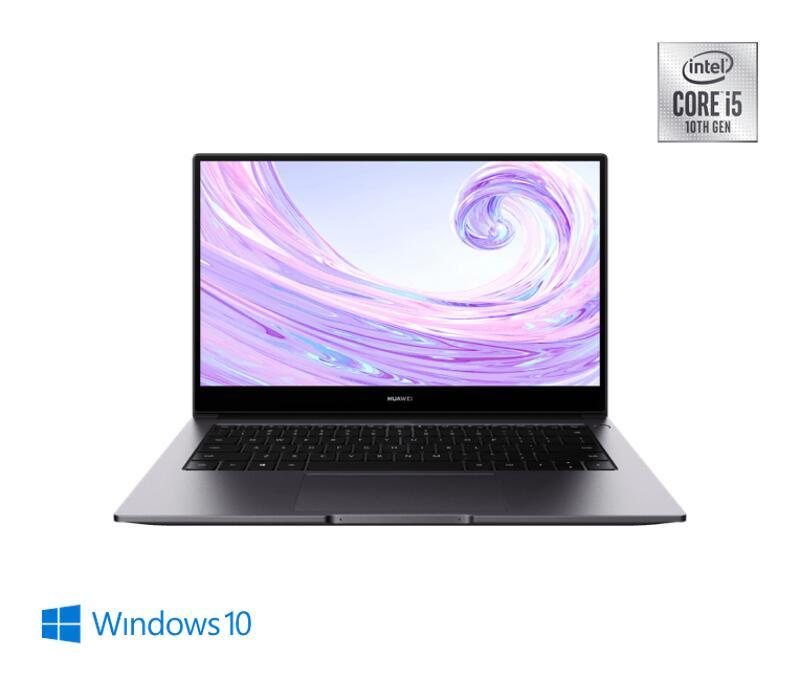 HUAWEI MateBook D 14, Intel® Core™ i5-10210U, 8GB+512GB, NVIDIA® GeForce® MX250, Windows 10, Space Grey