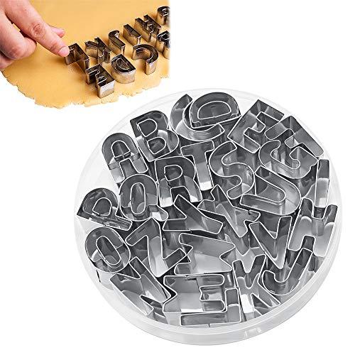 26 piezas de Moldes de Alfabeto, de Acero Inoxidable, para Pastelería. Por 5,99€