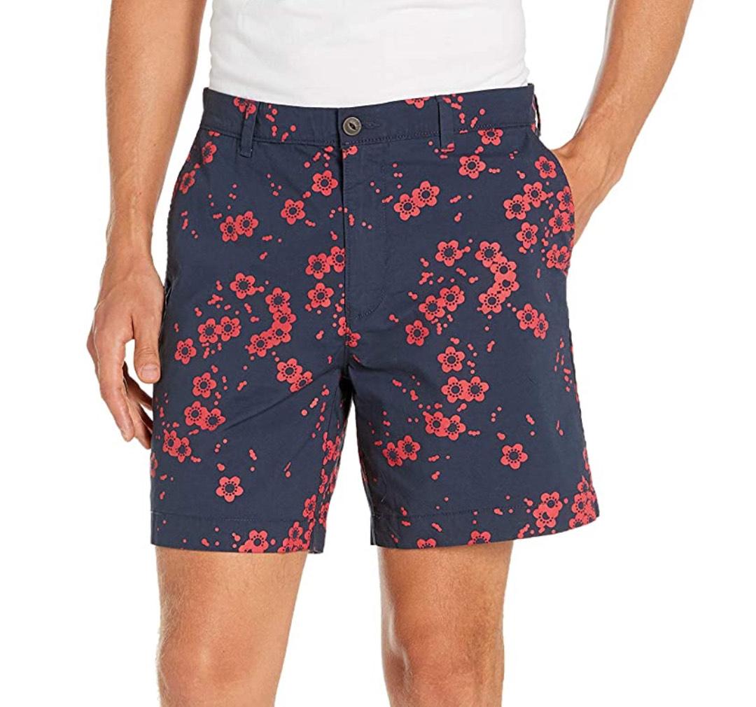 Pantalón corto flores hombre talla 33W(42).